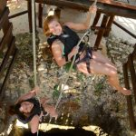 Rappelling at Jungle Maya