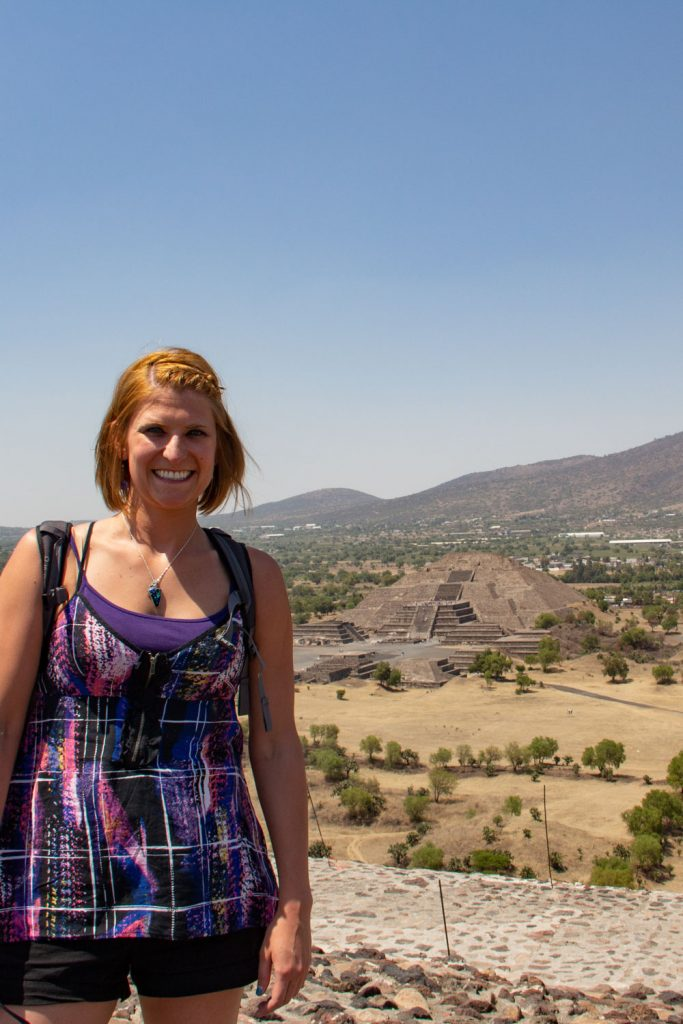 Standing at the top of Pyramid of the Sun