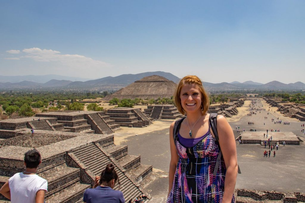 Standing on top of the Pyramid of the Moon
