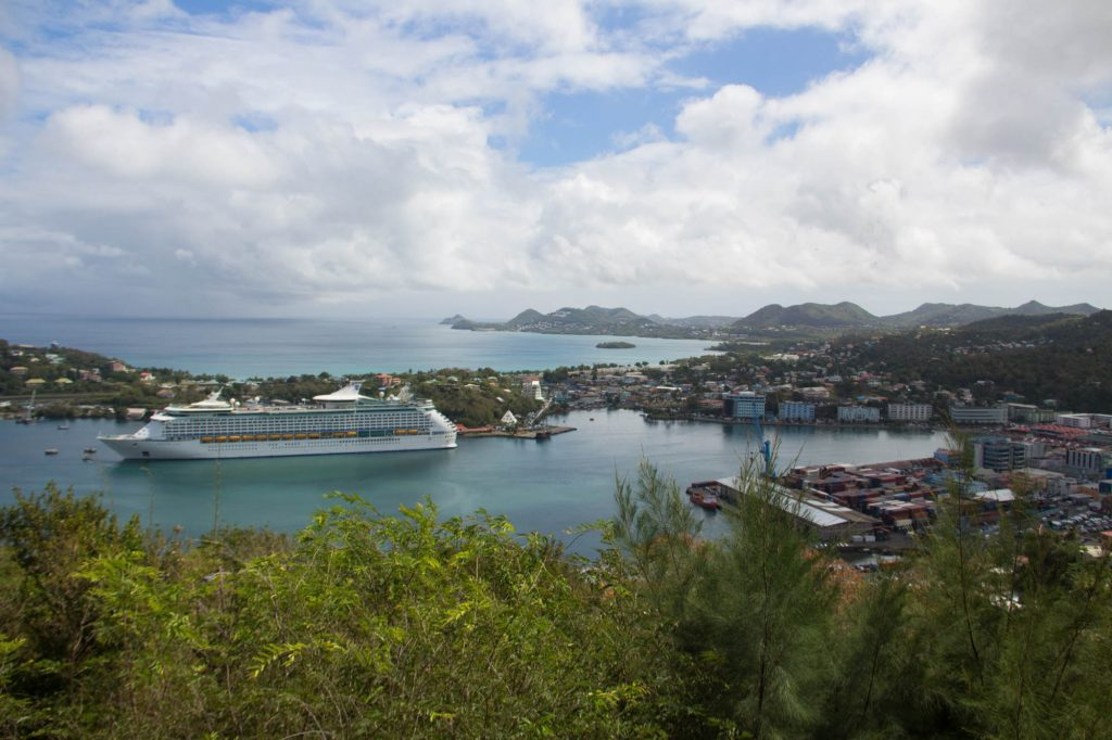View of Royal Caribbean St Lucia